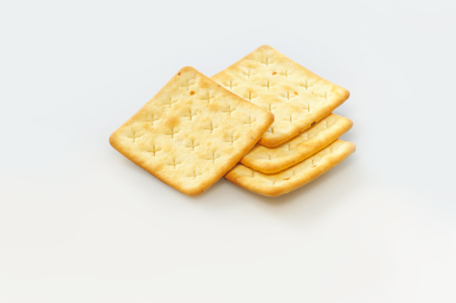 Cream-cracker with cheese
